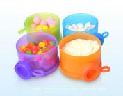 SOKDO Colourful Milk Powder Dispenser Portable Milk Ponder Box Four-layer Detachable Milk Container