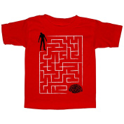 Lost Gods Halloween Zombie Brain Teaser Maze Toddler Graphic T Shirt - Lost Gods