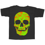 Lost Gods Halloween Skull Bats in Flight Face Toddler T Shirt - Lost Gods