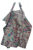 Premium Breathable Cotton Floral Nursing Cover with A String Bag, by MommyDaddy & Me, Fall Harmony