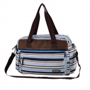 Satin Stripes Baby Changing Nappy Nappy Mummy Bag Bottle Holder Tote Bag