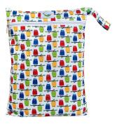 Sweet Pea Cloth Nappy Wet Bag - Owls
