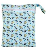 Sweet Pea Cloth Nappy Wet Bag - Bandit the Raccoon