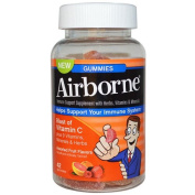 Airborne Vitamin C Gummies for Adults - Assorted Fruit Flavours - 42 Count
