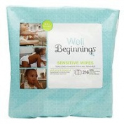 Well Beginnings Wipes Refill Sensitive, 216 ea