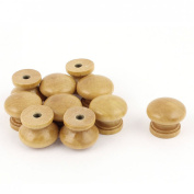 Furniture Drawer Door Cabinet Closet Wood Round Knob Pull Handle 10pcs