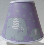 Elephant Night Lights/ Purple with Grey Dandelions / Elephant Nursery Wall Decor