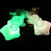 DDU(TM) Cute Elephant Shape Colour Changing LED Lamp Night Light Halloween Party Festival Decoration