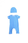 Unique Baby Unisex Chevron Jumpsuit with Matching Cap