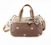 MiCoolker Lovely Cute Lace Sweet Polka Dot Bowknot Shoulder Bag Handbag Bow Messenger Shopping Bag for Girls Ladies Women