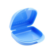 EUBUY Retainer Boxes Vent Hole Storage Case Container Orthodontic - Blue