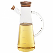 Contemporary Design Clear Glass Kitchen Liquid Condiment Cruet Dispenser / Olive Oil & Vinegar Bottle