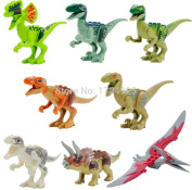 NW Jurassic World Dinosaur Figures Jurassic Park 4 Minifigures Bricks Models & Building Toys for Children 8pcs/Set Lego Compatible