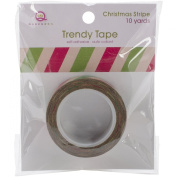 Queen & Co Trendy Tape Christmas Kraft Collection, Stripes