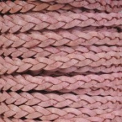 Natural Pink Flat Braided Cord - 5mm x 2m