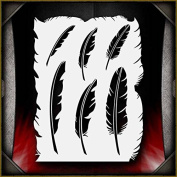 Feathers AirSick Airbrush Stencil Template