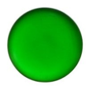 Stained Glass Jewels - 25mm Round Smooth - Green