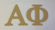 Alpha Phi 19cm Unfinished Wood Letter Set