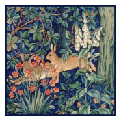 Forest Rabbits by Arts and Crafts Henry Dearle and William Morris Counted Cross Stitch Chart