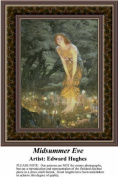 Midsummer Eve, Fine Art Counted Cross Stitch Pattern