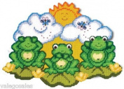 Design Works Plastic Canvas Kit - Frog Trio