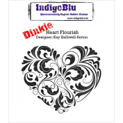 IndigoBlu Cling Mounted Stamp, Heart Flourish