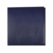 Pioneer Photo Albums MB-50/NB 50 Page Post Bound Bonded Leather Scrapbook for 12 x 12 Pages, Navy Blue