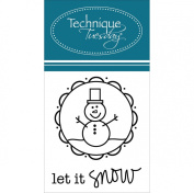 Technique Tuesday Let it Snow Stamps, 5.1cm by 6.4cm , Clear