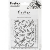 Crafty Individuals Unmounted Rubber Stamp, Dreaming of Dragonflies