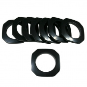 Square #15 Plastic, 4.8cm , 8 Sets, Black