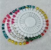 90 Multicoloured Heart Hijab Straight Pins
