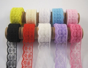 mixed colour Embroidered Net Lace Trim Ribbon Yarns Craft Accessories 10 yards/lot