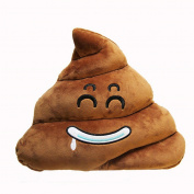 Sandistore Emoji Emoticon Cushion Poo Shape Pillow Doll Toy Throw Pillow (Smile
