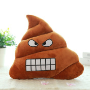Sandistore Emoji Emoticon Cushion Poo Shape Pillow Doll Toy Throw Pillow (Bared Teeth 2(23*20cm