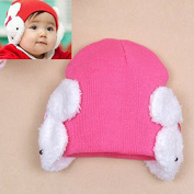 IDEABBC Lovely Infant Baby Rabbit Winter Warm Knit Hat