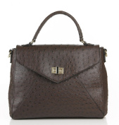 Noble Mount Ostrich Finish Envelope Satchel/Handbag - 5 Colours