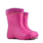 Ultra Light EVA Kids Girls Wellington Boots Rainy Snow Wellies Red Very Warm Liners