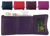 Designer Quality Small Leather Trifold Purse/Wallet 8 Card Slots & Coin Pouch