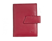 Real Leather Credit Card Holder with zipped purse and key fob by Prime Hide