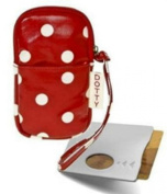 Polka Dot Wrist Strap Pouch with Handy Card Holder - Camera, Phone, Money, etc