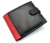 MENS HIGH QUALITY LUXURY SOFT LEATHER TRI FOLD WALLET CREDIT CARD SLOTS, ID WINDOW AND COIN POCKET