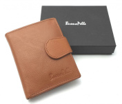 MENS REAL LEATHER GENUINE HIGH QUALITY DESIGNER BUONO PELLE WALLET CREDIT CARD HOLDER PURSE GIFT BOXED