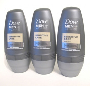 3 x 50 ml Dove Men Plus Sensitive Care 48 Hour Protection Roll-On