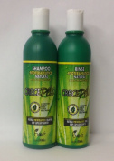 Boe CrecePelo Natural Fitoterapeutico Shampoo 350ml & Natural Fitoterapeutico Rinse 350ml Set by Crece Pelo