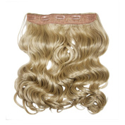 I & K 60cm Synthetic One Piece Wavy Clip­in Full Head Hair Extension 120 gramme