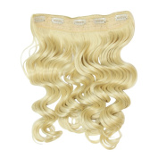 I & K 60cm Synthetic One Piece Wavy Clipin Full Head Hair Extension 120 gramme