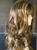 THZLong Chocolate Brown and Honey Blonde Number 12B/149B Ladies Wavy Style Hi-Light Fashion Wig