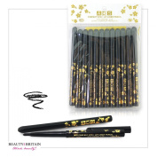 12 x BLACK EYELINER TWIST UP WATERPROOF WHOLESALE JOB LOT UK
