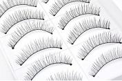 Women Daily Party Makeup Long Curly Fake Natural Eyelashes Black Thick