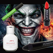 Halloween Joker Make-Up Set Of 4 - Miss Pouty White Liquid Foundation, Stargazer Red Lipstick, Stargazer Black Eye Shadow Pen And Stargazer Green Hair Mascara